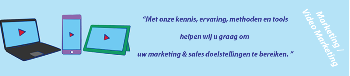 Banner afbeelding IBMC marketing / video marketing